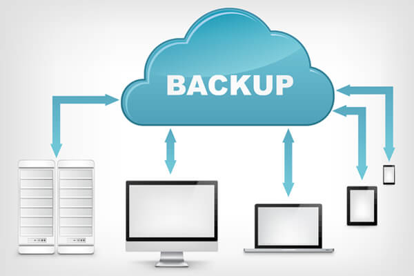Image showing backup of different divices process to cloud