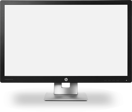 Sample image of HP desktop screen