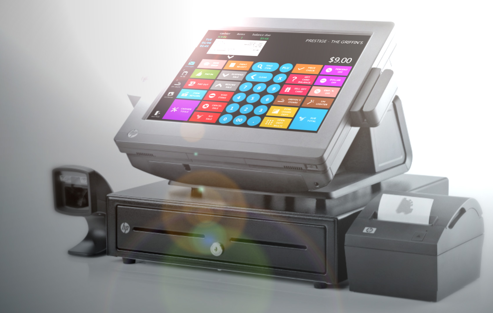 Image POS Cashiers Facing Screen