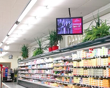 Image of supermarkets showing stocks of products